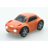 Orange ZenWheels Microcar
